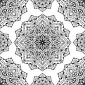 Oriental pattern with mandalas Vector seamless background with round design elements You can use this pattern in the design of carpet textile shawl