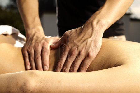 Photo for Late summer massage on open air - Royalty Free Image
