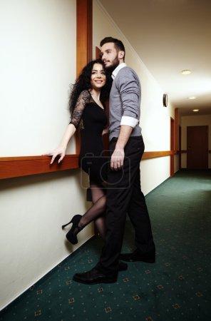 Lovers in corridor