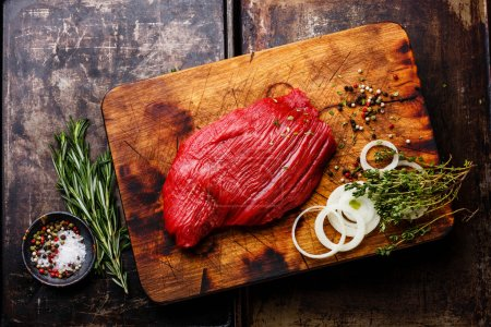 Raw fresh meat filet