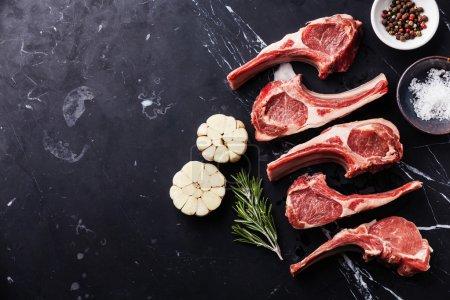 Raw meat mutton lamb ribs