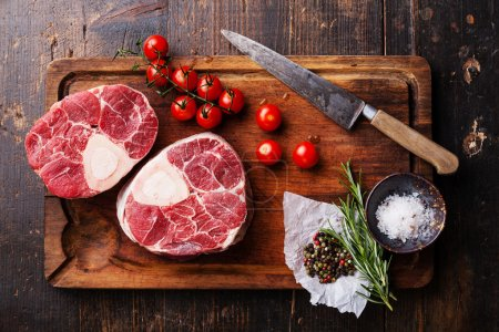 Raw meat  for making Osso Buco