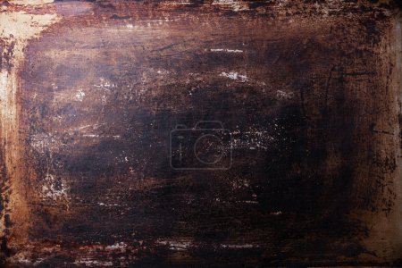 Photo for Old scratched black dark background texture - Royalty Free Image