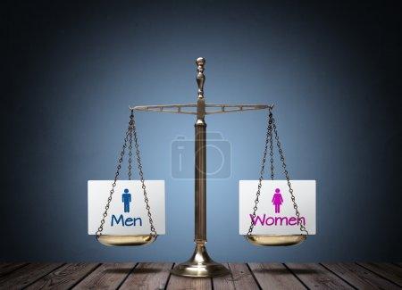 Photo pour Égalité entre l'homme et la femme - image libre de droit