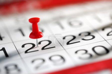 Thumbtack in calendar