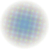 Optical dots radial gradient