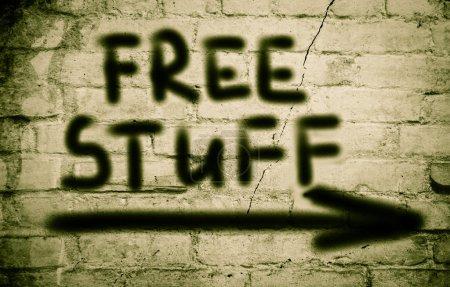 Photo pour Concept de trucs gratuits - image libre de droit