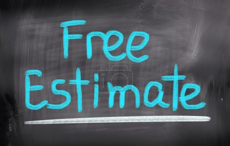 Photo for Free Estimate Concept - Royalty Free Image