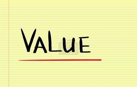 Photo pour Concept de valeur - image libre de droit