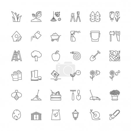 Line icons. Gardening