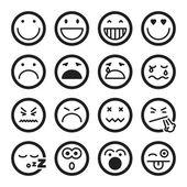 Smiley flat icons. Black