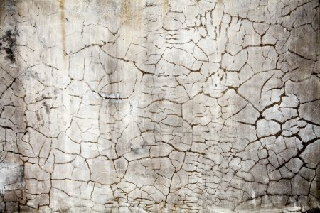 Photo for Cracked concrete vintage white wall background,old wall - Royalty Free Image