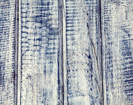 Photo pour Vieux bois wethered planches bleues fond pour décor - image libre de droit