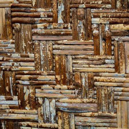 Photo pour Artisanat d'armure texture fond naturel brun en osier - image libre de droit