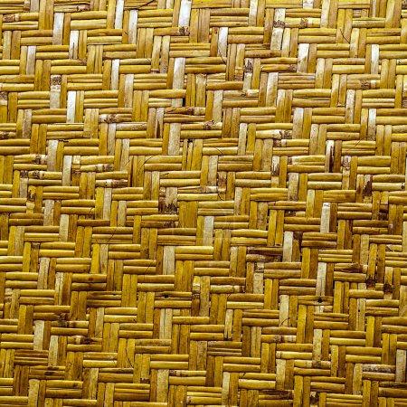 Photo pour Artisanat d'armure texture fond naturel jaune en osier - image libre de droit
