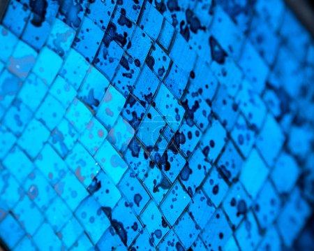 Photo pour Fond de mosaïque décoration bleue, beau fond d'écran lumineux - image libre de droit