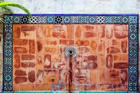 Photo for Old fountain with mosaic tiles in Miami - Royalty Free Image