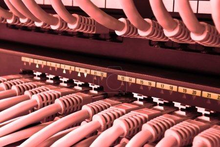 Photo pour Réseau Hub et Switch de datacenter - image libre de droit