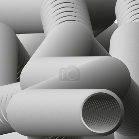 Background with pipes. Vector illustration.