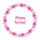Jarní květinový věnec