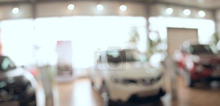 background blur car showroom