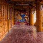 Lijiang, Yunnan Shuhe Shek Lin Monastery mural...