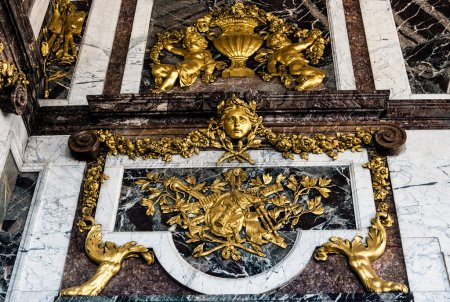Detail in Great Hall Ballroom in Versailles