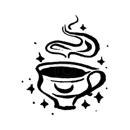 Illustration pour Coupe de poison magique sauvage pour magicien sorcellerie illustration dessinée à la main. Vecteur - image libre de droit
