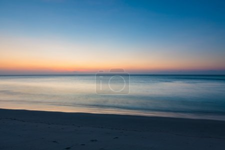 Photo for Minimalistic seascape at twilight long exposure - Royalty Free Image