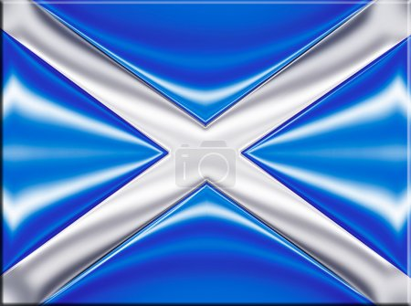 Scotland metallic flag