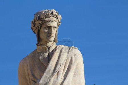 Original photo, dante alighieri monument, santa cr...