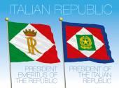 presidential flags of the italian republic