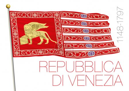 republic of venice historical flag, italy