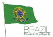Vector file illustration flag of the president of the brazil