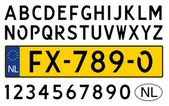 car plate of netherlands numbers letters and symbols