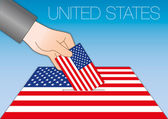 United States Voting for the president of the united states symbol