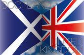 Scotland vs united kingdom flags