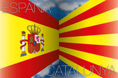 Spain vs catalonia flags