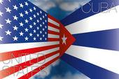 Cuba vs usa flags
