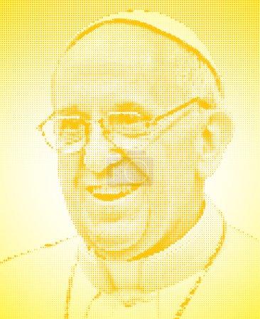 Pope francis graphic elaboration portrait