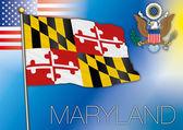 maryland flag us state