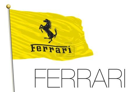 ferrari flag isolated on white background