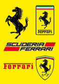 ferrari logo vector illustration