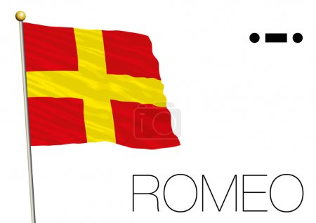 romeo flag International maritime signal