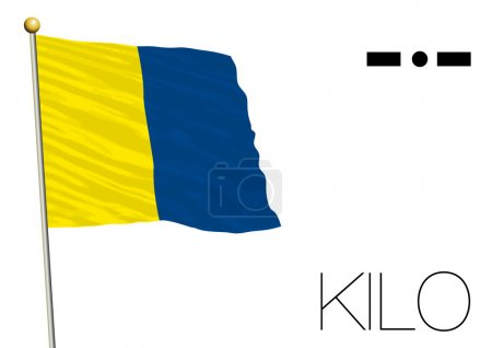 kilo flag, International maritime signal