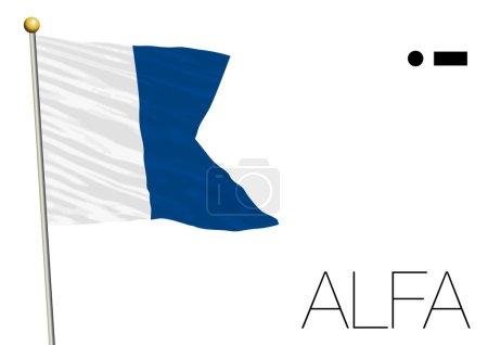 Альфа международный морской сигнал флаг
