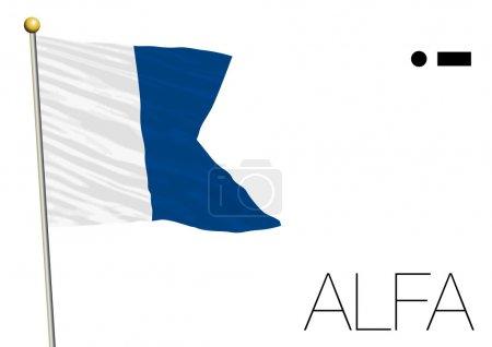 alfa flag International maritime signal