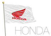Honda motorcycle racing flag vector illustration