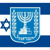 israel coat of arm and flag