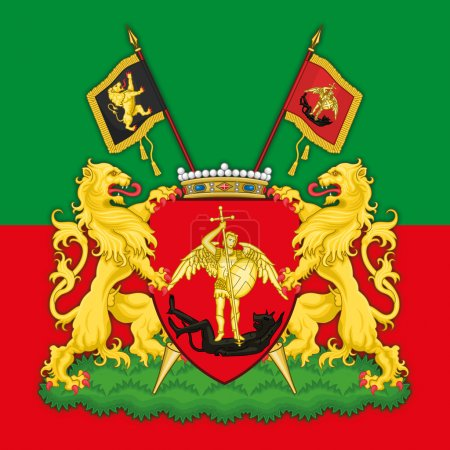 brussels coat of arm and flag